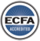ECFA Accredited business icon on transparent background