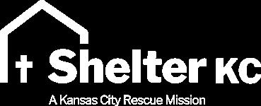 Shelter KC white logo on transparent background