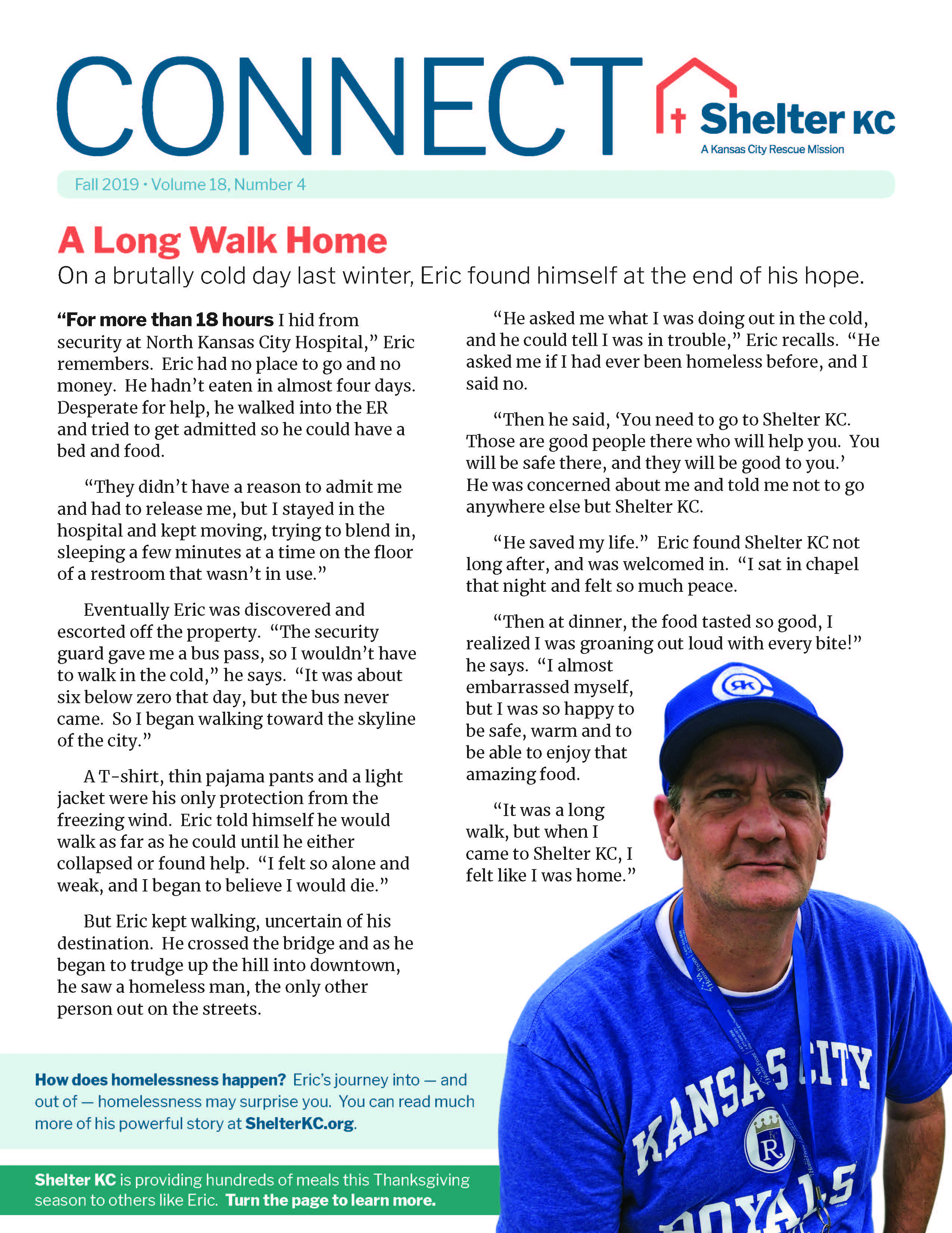 Eric's Long walk home story in Connect Volume 18