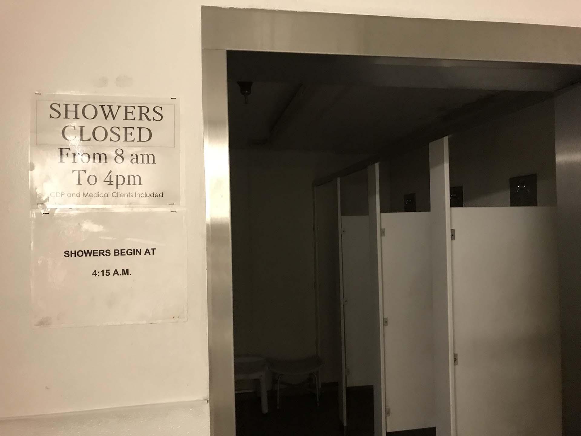 Shower room at Shelter KC