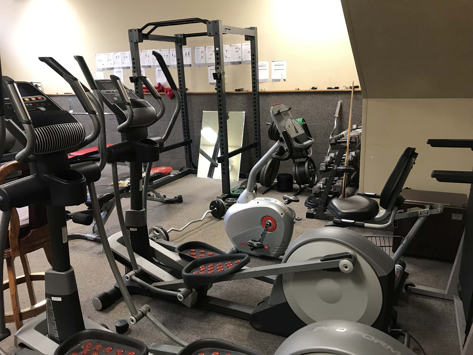 Exercise room at Shelter KC