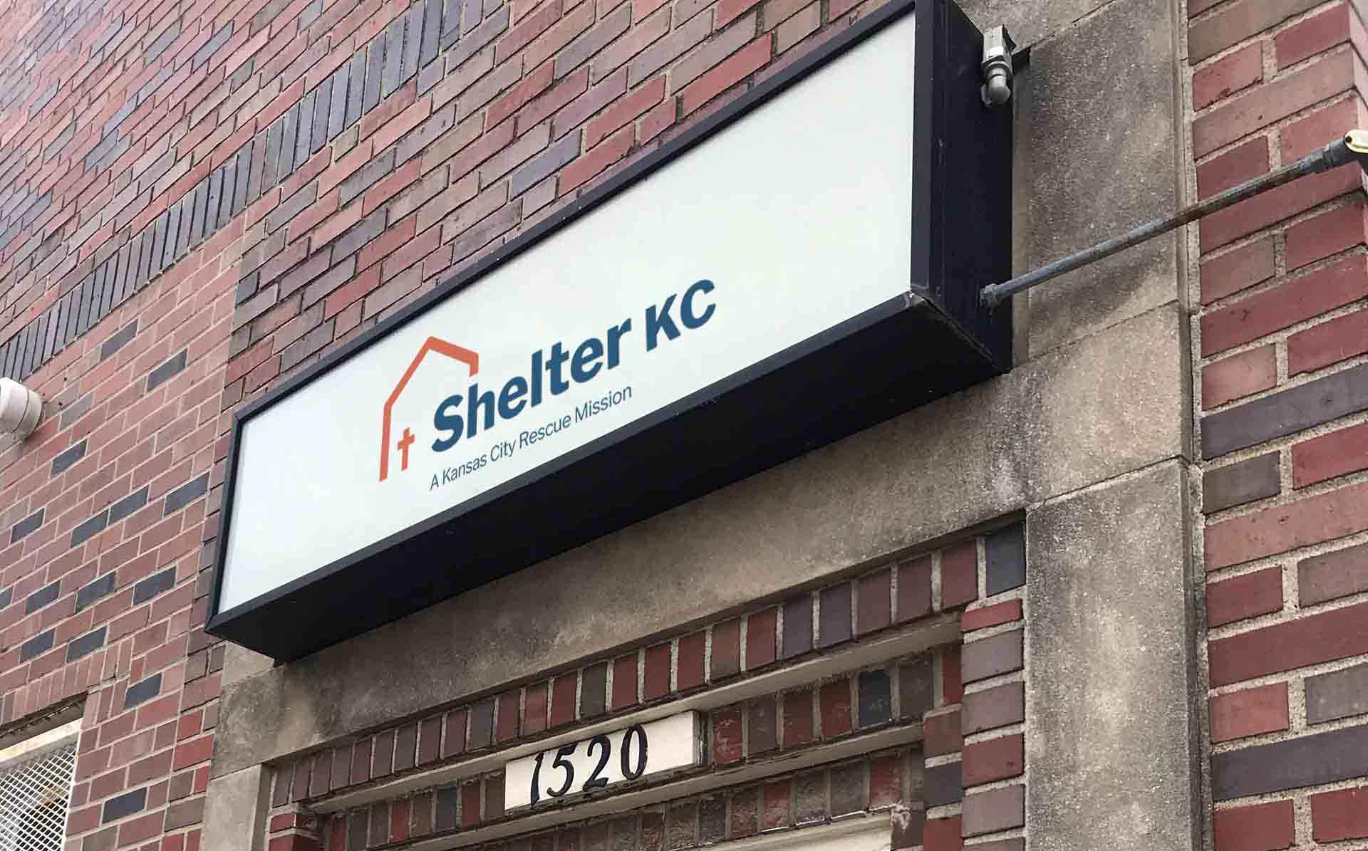 Shelter KC sign