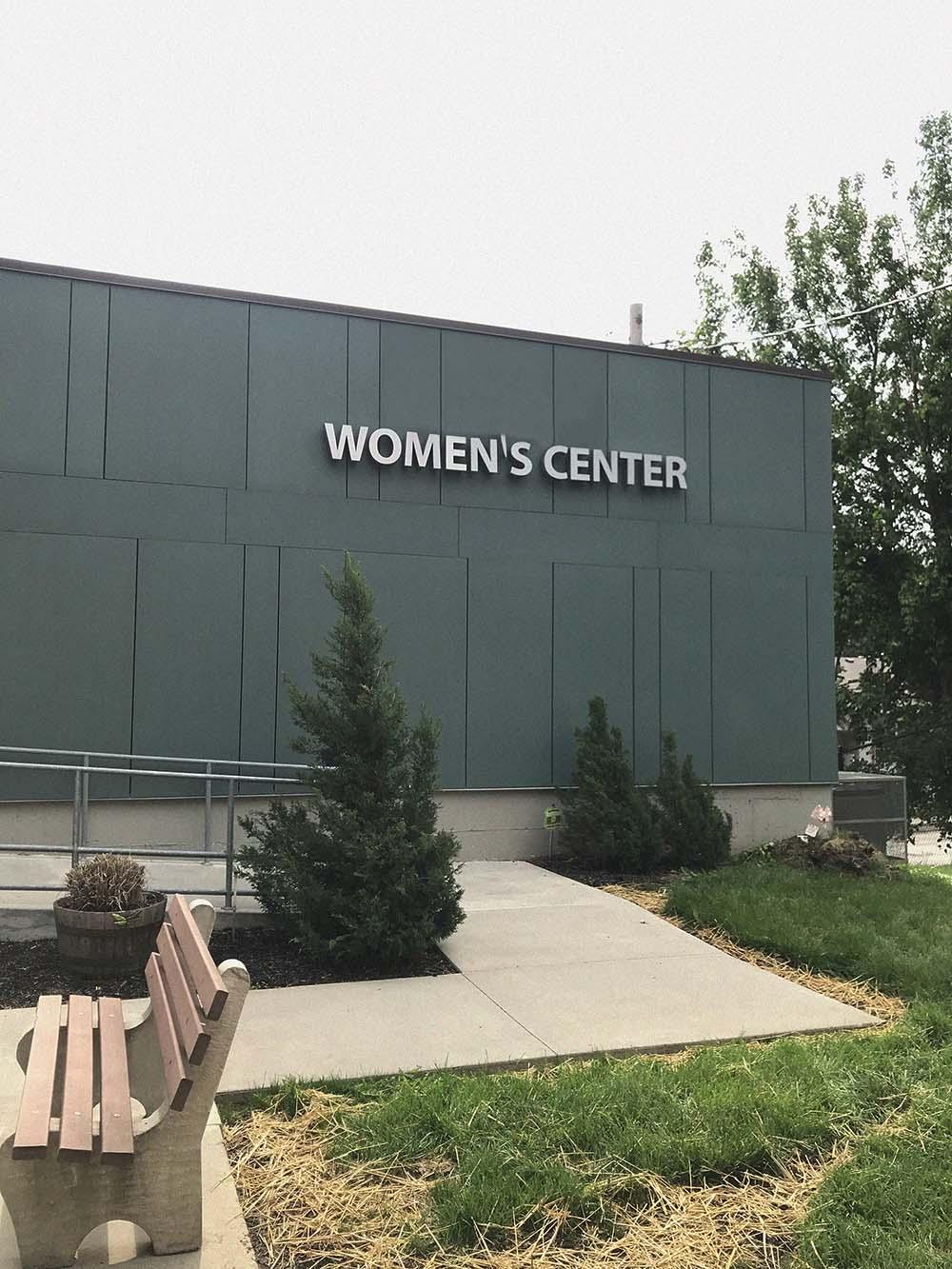 Women's Center sign on building